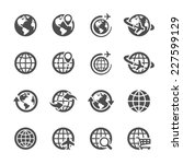 global communication icon set ... | Shutterstock .eps vector #227599129
