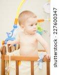 baby boy waving hand and... | Shutterstock . vector #227600347