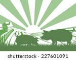 an illustration of a silhouette ... | Shutterstock .eps vector #227601091