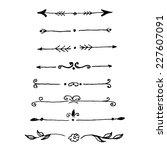 hand drawn design elements.... | Shutterstock .eps vector #227607091