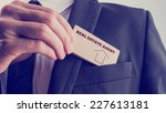 real estate agent in black suit ...   Shutterstock . vector #227613181