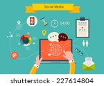 business concept flat icons set ... | Shutterstock .eps vector #227614804