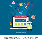 set of flat design concept... | Shutterstock .eps vector #227614849