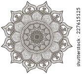 mandala. round ornament pattern.... | Shutterstock . vector #227615125