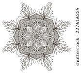 mandala. round ornament pattern.... | Shutterstock . vector #227616229