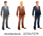 business men posing set | Shutterstock . vector #227617279