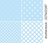 Cute Blue Tile Vector Pattern...