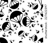 paratrooper seamless pattern | Shutterstock .eps vector #227622397