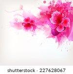 watercolor vector background... | Shutterstock .eps vector #227628067