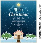 holiday vector background for... | Shutterstock .eps vector #227632249
