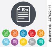 medical prescription rx sign... | Shutterstock .eps vector #227632444