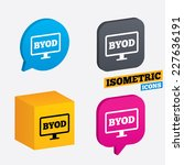 byod sign icon. bring your own... | Shutterstock .eps vector #227636191