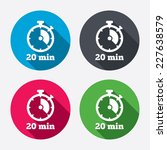 timer sign icon. 20 minutes... | Shutterstock .eps vector #227638579