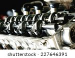 car engine inside view isolated ... | Shutterstock . vector #227646391