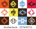 grunge aztec navajo color...   Shutterstock .eps vector #227650711