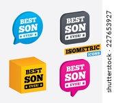 best son ever sign icon. award... | Shutterstock .eps vector #227653927