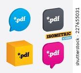 pdf file document icon.... | Shutterstock .eps vector #227655031