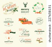 set of vintage elements for... | Shutterstock .eps vector #227658151