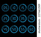 digital countdown timer with... | Shutterstock .eps vector #227661589