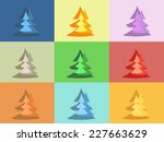 colorful and funny christmas...   Shutterstock .eps vector #227663629