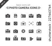 photo camera icons set. | Shutterstock .eps vector #227663764