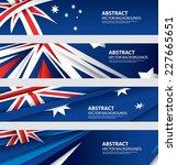 abstract australian flag ...   Shutterstock .eps vector #227665651