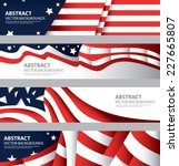 abstract american flag  usa... | Shutterstock .eps vector #227665807
