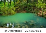natural azure pond named ochiul ... | Shutterstock . vector #227667811