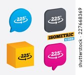 angle 225 degrees sign icon.... | Shutterstock .eps vector #227668369