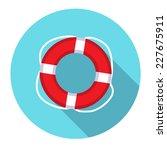 lifebuoy flat web icon. | Shutterstock .eps vector #227675911