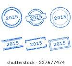 2015 stamps | Shutterstock .eps vector #227677474