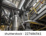 Large Industrial Pipes In A...