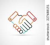 business handshake. line style... | Shutterstock .eps vector #227688151