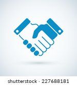 vector business handshake icon. | Shutterstock .eps vector #227688181