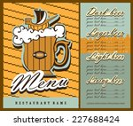 beer menu design. the menu... | Shutterstock .eps vector #227688424