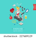 sport exercise workout flat 3d... | Shutterstock .eps vector #227689129