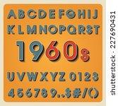 vintage alphabet. retro type... | Shutterstock .eps vector #227690431