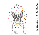 hand drawn vector of french... | Shutterstock .eps vector #227692084