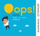 funny oops symbol with cute... | Shutterstock .eps vector #227694169
