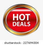hot deals button  | Shutterstock .eps vector #227694304