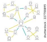 men and women connecting... | Shutterstock .eps vector #227700895