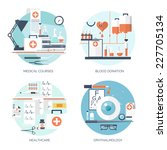 medical flat vector background... | Shutterstock .eps vector #227705134