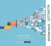 medical flat vector background...   Shutterstock .eps vector #227705779