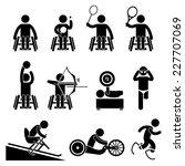 disable handicap sports stick... | Shutterstock . vector #227707069
