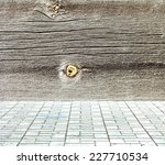painted wooden room with tiled... | Shutterstock . vector #227710534