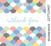 Stock vector pastel geometric scallop thank you card template 227715907