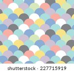 pastel abstract scallop... | Shutterstock .eps vector #227715919