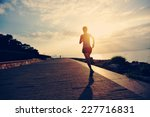 runner athlete running at... | Shutterstock . vector #227716831