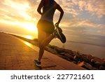 runner athlete running at... | Shutterstock . vector #227721601