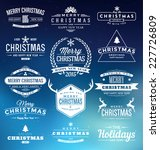 christmas insignia set   vector ... | Shutterstock .eps vector #227726809